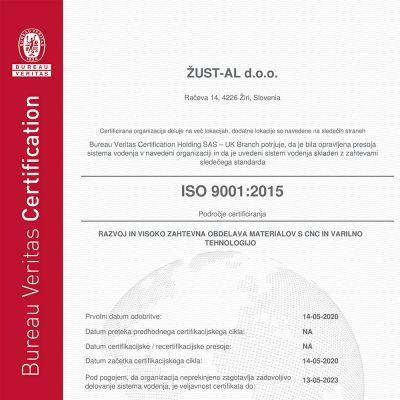 Zertifikate ISO 9001:2015